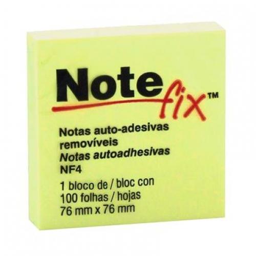 NOTAS AUTO ADESIVAS 76X76 NOTEFIX AMARELA