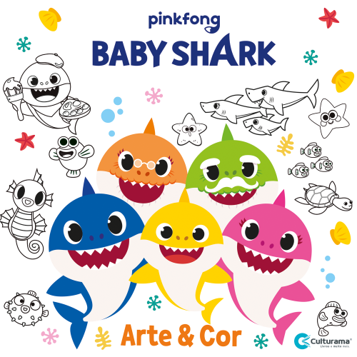 ARTE E COR BABY SHARK