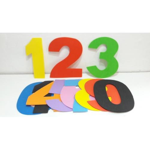 LETRAS E NUMEROS EM EVA 11CM NUMERO 0