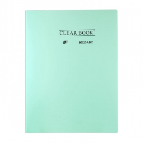 PASTA CATALOGO A4 20ENV YES CLEAR BOOK PASTEL VERDE