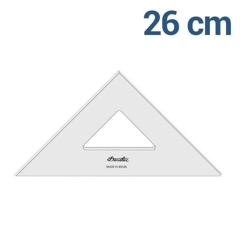 ESQUADRO TRIDENT 45* 26CM