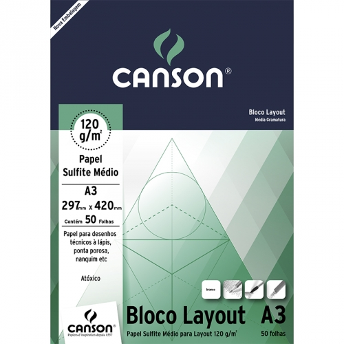 PAPEL LAYOUT A3 120G CANSON