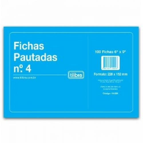 FICHA PAUTADA N4 6X9 100FLS TILIBRA