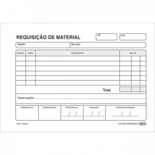 FICHA REQUISICAO DE MATERIAL 50FLS TILIBRA