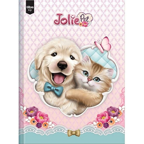 CADERNO BROCHURA 1/4 CD 96FLS TILIBRA JOLIE PET