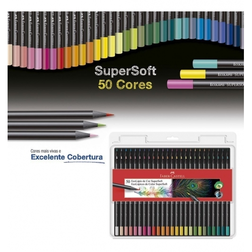 LAPIS DE COR FABER 50 CORES SUPERSOFT