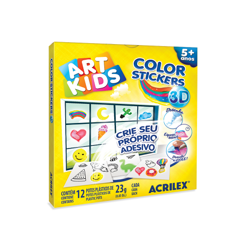 KIT COLOR STICKER 3D ACRILEX