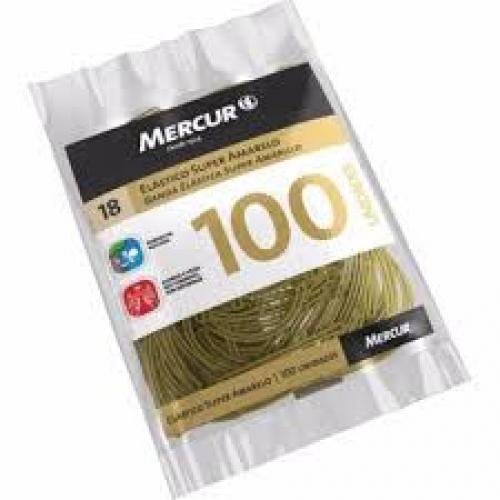 ELASTICO MERCUR SUPER AMARELO 18 100UNDS