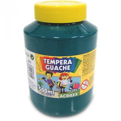 TINTA GUACHE ACRILEX 500ML VERDE BANDEIRA 511