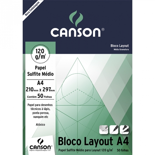 PAPEL LAYOUT A4 120G CANSON