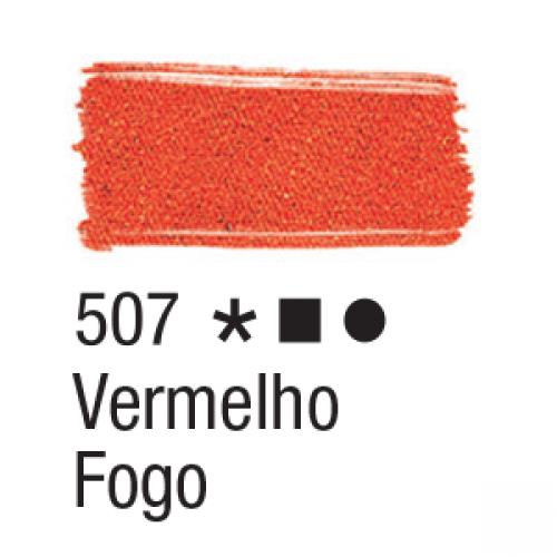 TINTA TECIDO ACRILEX 37ML VERMELHO FOGO