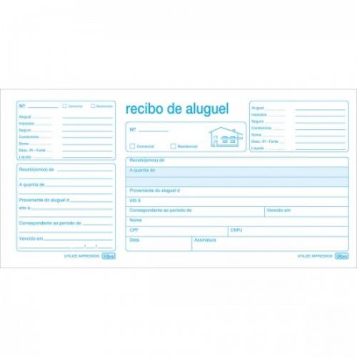 RECIBO DE ALUGUEL COM CANHOTO 50FLS TILIBRA
