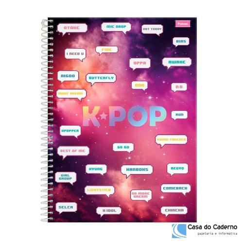 CADERNO UNIVERSITARIO 01M CD FORONI K-POP