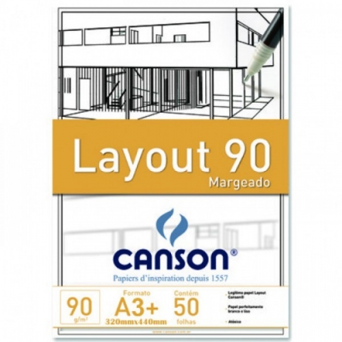 PAPEL LAYOUT MARGEADO A3+ 90G CANSON