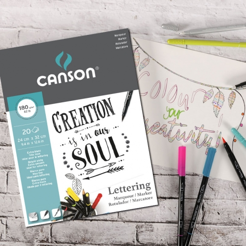 PAPEL LETTERING MARKER A4 180G 20FLS CANSON