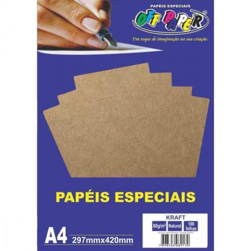 PAPEL KRAFT A4 80G 100FLS OFFPAPER