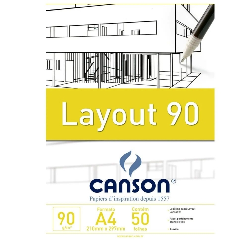 PAPEL LAYOUT A4 90G CANSON TECNICO