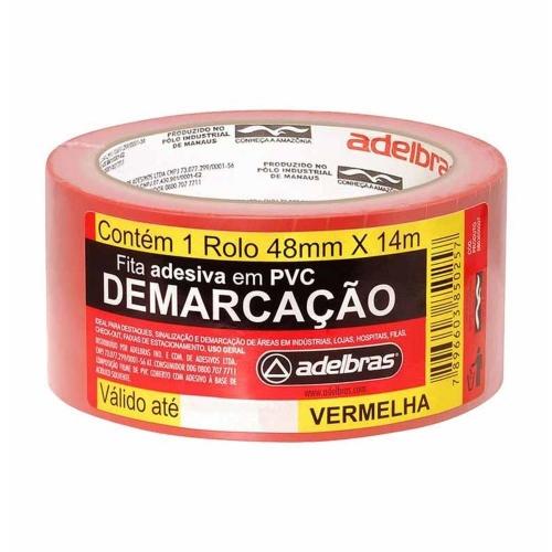 FITA DEMARCA SOLO ADELBRAS 48X14 VERMELHA