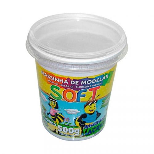 MASSA DE MODELAR BASE DE AMIDO ACRILEX SOFT 500G BRANCO NEVE