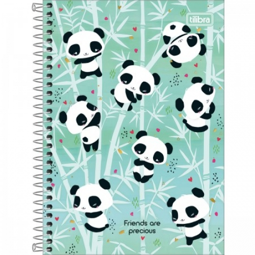CADERNO ESPIRAL 1/4 CD 80FLS TILIBRA LOVELY FRIEND