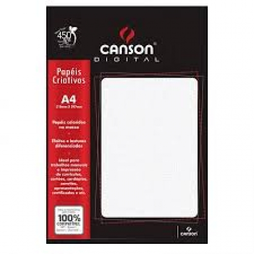 PAPEL TEXT A4 180G OPALINA LISO 15FLS CANSON