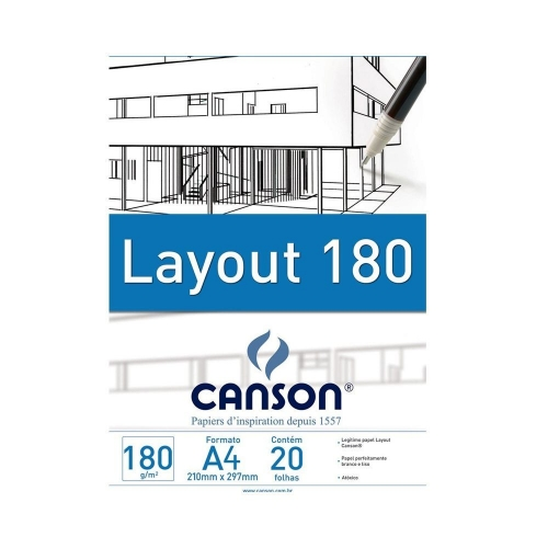 PAPEL LAYOUT A4 180G CANSON