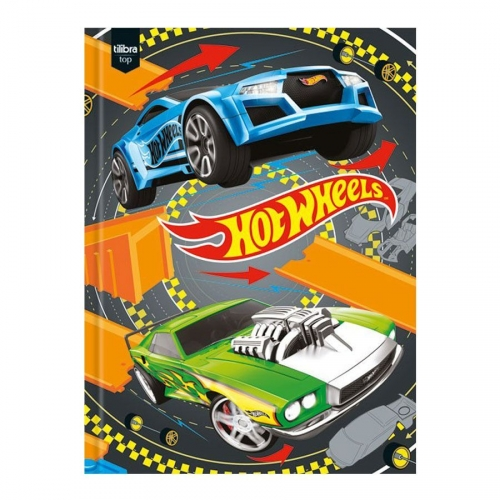 CADERNO BROCHURA 1/4 CD 96FLS TILIBRA HOT WHEELS