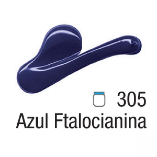 TINTA TELA ACRILICA ACRILEX 20ML AZUL FITALOCIANINA 305