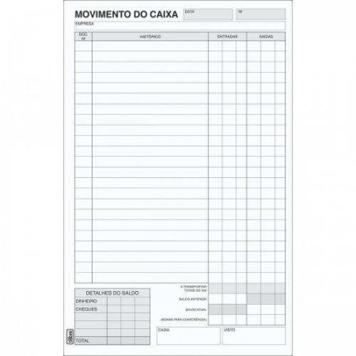 LIVRO MOVIMENTO DE CAIXA GRANDE 100FLS TILIBRA