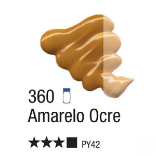 TINTA TELA OLEO ACRILEX 20ML AMARELO OCRE 360