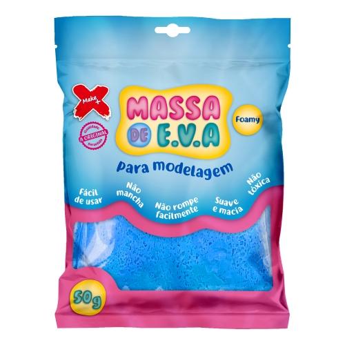 MASSA DE EVA MAKE + 50G AZUL CLARA
