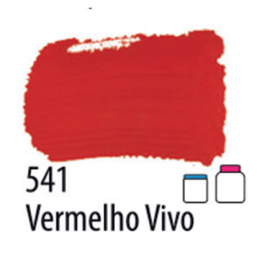 TINTA PVA FOSCA ARTESANATO ACRILEX 37ML VERMELHO VIVO