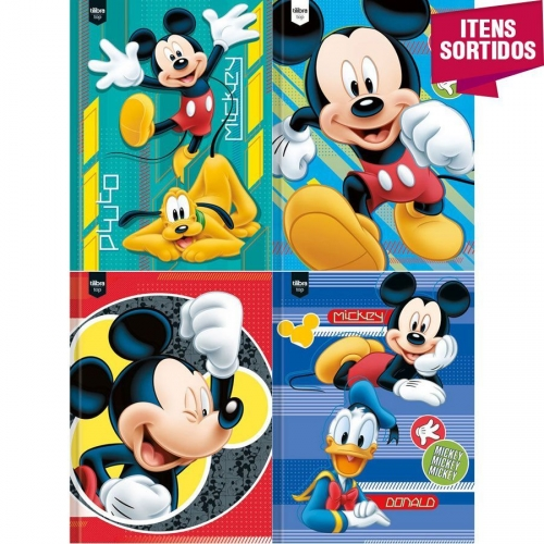CADERNO BROCHURA 1/4 CD 48FLS TILIBRA MICKEY