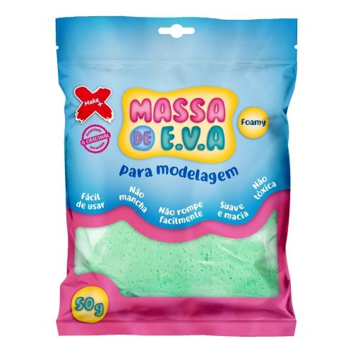 MASSA DE EVA MAKE + 50G VERDE CLARA