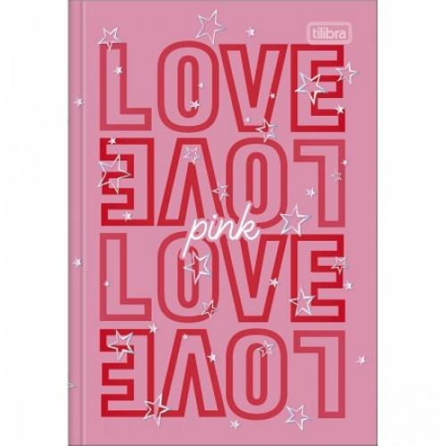 CADERNO BROCHURA 1/4 CD 48FLS TILIBRA LOVE PINK