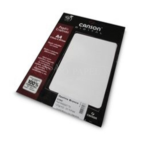 PAPEL TEXT A4 120G OPALINA LISO 30FLS CANSON