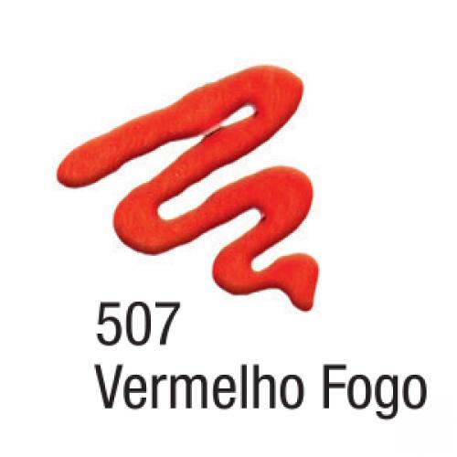 TINTA TECIDO ACRILEX ACRIPUFF 35ML VERMELHO FOGO