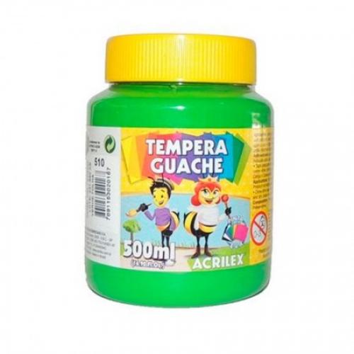 TINTA GUACHE ACRILEX 500ML VERDE FOLHA 510