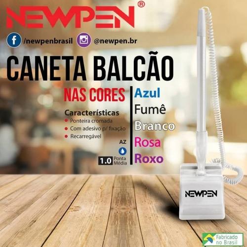 CANETA NEWPEN BALCAO BRANCO