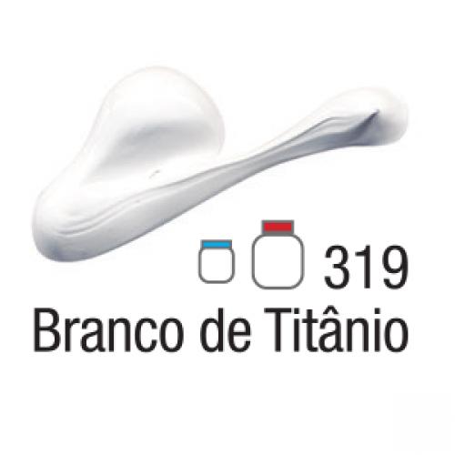 TINTA TELA ACRILICA ACRILEX 20ML BRANCO DE TITANIO 319