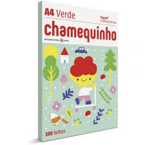PAPEL A4 75G CHAMEQUINHO VERDE 100FLS