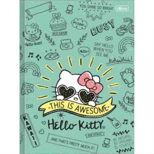 CADERNO BROCHURA CD 96FLS TILIBRA HELLO KITTY