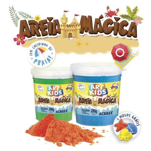 AREIA MAGICA ACRILEX 200G