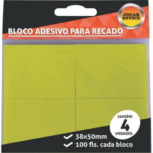 BLOCO ADESIVO 38X50 JOCAR AMARELO