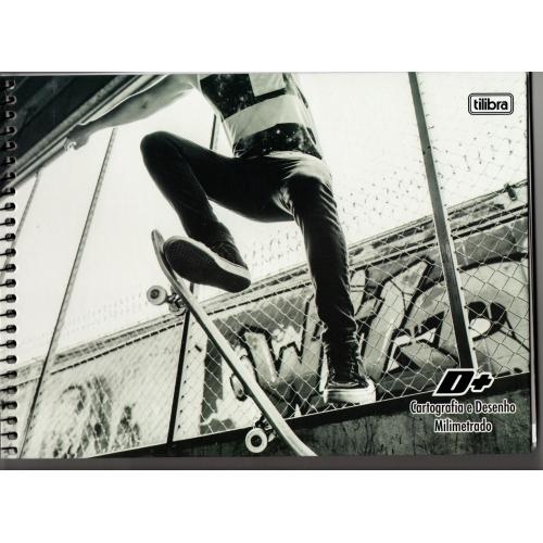 CADERNO CARTOGRAFIA CD MILIMETRADO 96FLS TILIBRA D+
