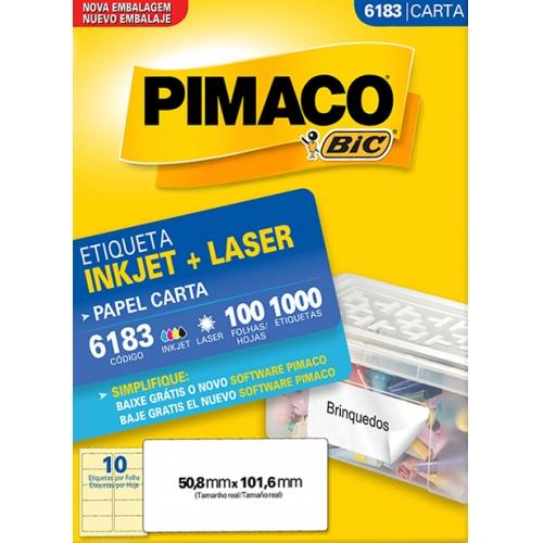 ETIQUETA CARTA 100FLS PIMACO 6183