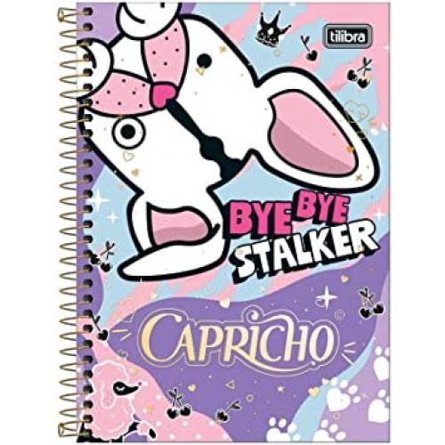 CADERNO ESPIRAL 1/4 CD 80FLS TILIBRA CAPRICHO