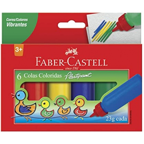 COLA COLORIDA FABER CASTELL 06 CORES 23G