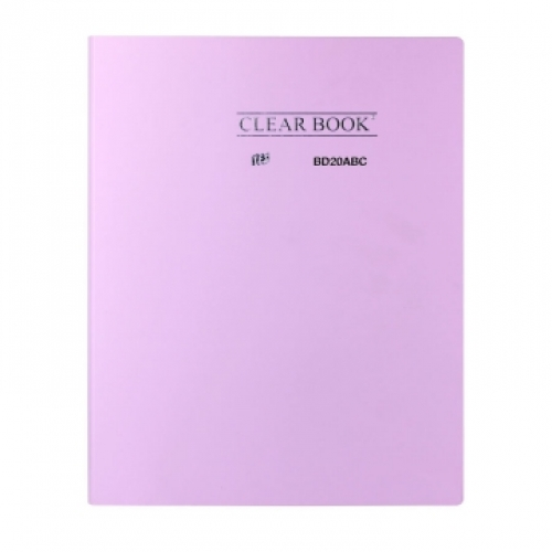 PASTA CATALOGO A4 20ENV YES CLEAR BOOK PASTEL LILAS