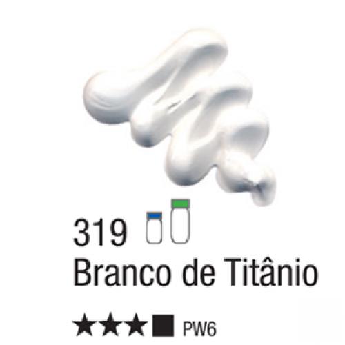 TINTA TELA OLEO ACRILEX 20ML BRANCO DE TITANIO 319